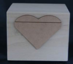 4 X 4 Wood Box with heart applique