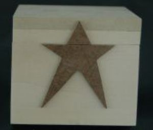 Box - 4 X 4 Wood with star applique