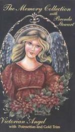 Victorian Angel w/ Red Poinsettias & Gold Trim