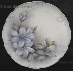 Clematis on Porcelain
