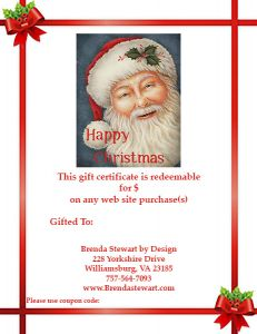 Gift Certificate - Printable