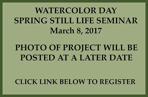 March Watercolor Class