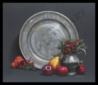 Old Pewter and Fruit