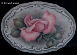 Rosebud on Porcelain