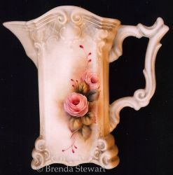 Roses on Bavarian Pitcher