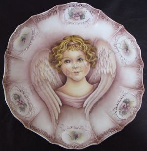 Angel Plate w/ Violet Trim