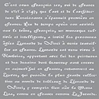 Americana Decor Old French Stencil